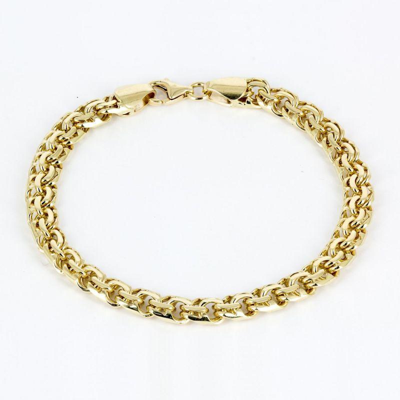 Браслет цепной из желтого золота