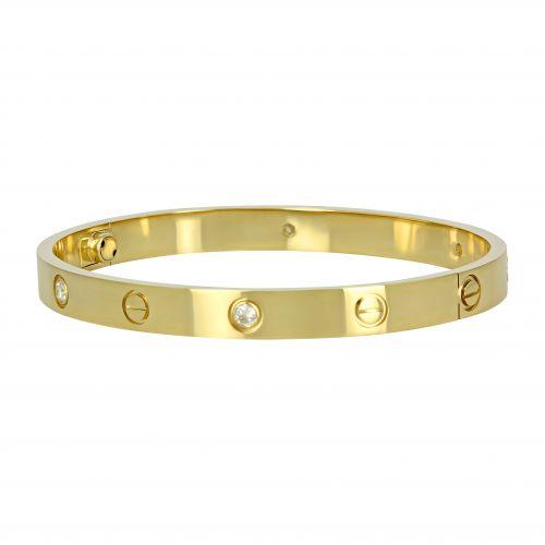 Браслет из желтого золота в стиле Cartier Love