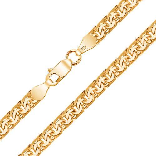 Золотой браслет плетения Бисмарк из желтого золота