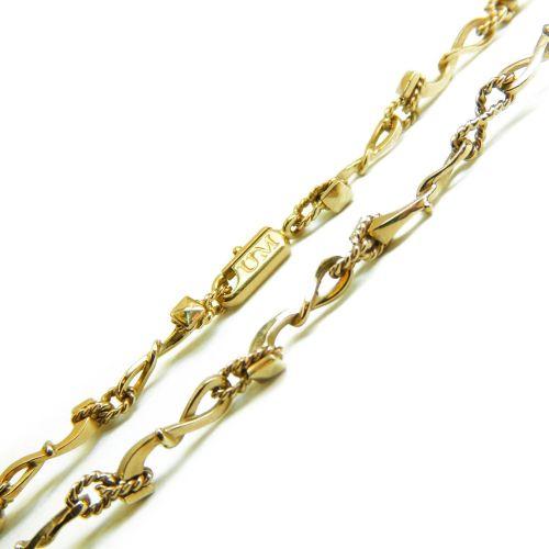 Дизайнерская глидерная цепочка из желтого золота