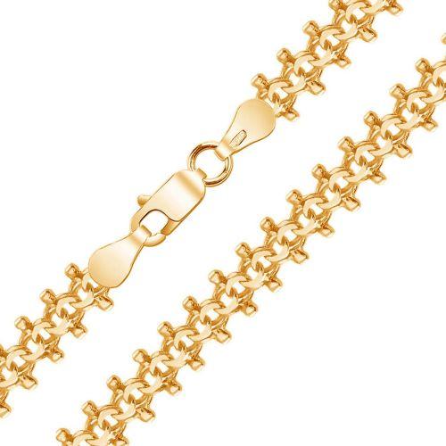 Мужская цепочка плетения «Гламурный Бисмарк» из желтого золота