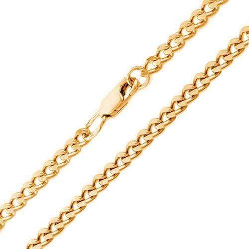 Мужская цепочка плетения «Панцирное» из желтого золота