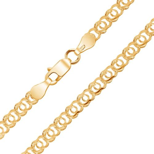 Мужская цепочка плетения «Арабский Бисмарк» из красного золота