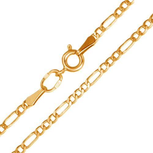 Мужская цепочка плетения «Фигаро 3+1» из красного золота