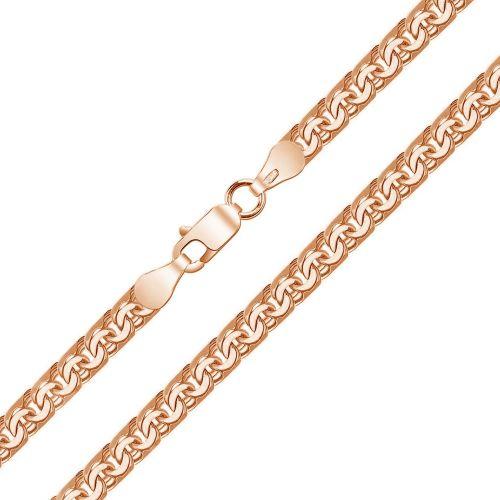 Женская цепочка плетения «Бисмарк» из платины