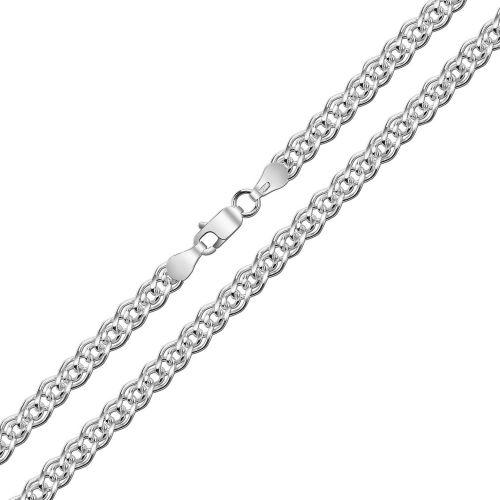 Женская цепочка плетения «Нонна» из белого золота