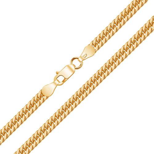 Женская цепочка плетения «Панцирное Двойное» из белого золота