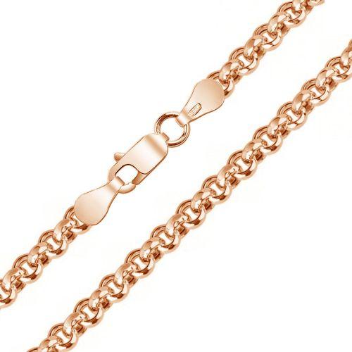 Мужская цепочка плетения «Шопард (Ролло, Бельцер)» из белого золота
