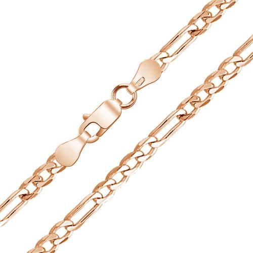 Мужская серебряная цепочка плетения «Фигаро 5+1»