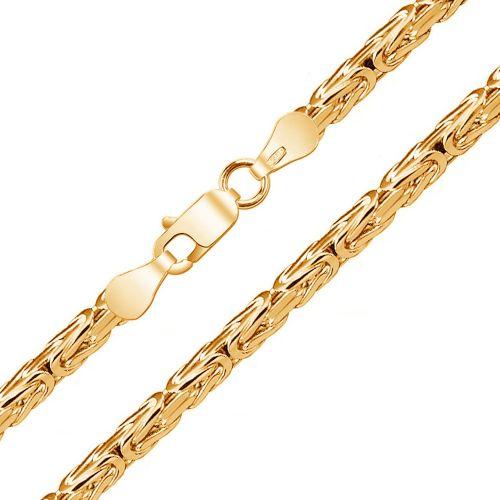 Мужская цепочка плетения «Лисий Хвост (Квадрат)» из красного золота