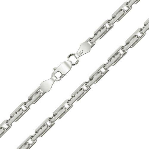 Женская серебряная цепочка плетения «Якорное 1+1»