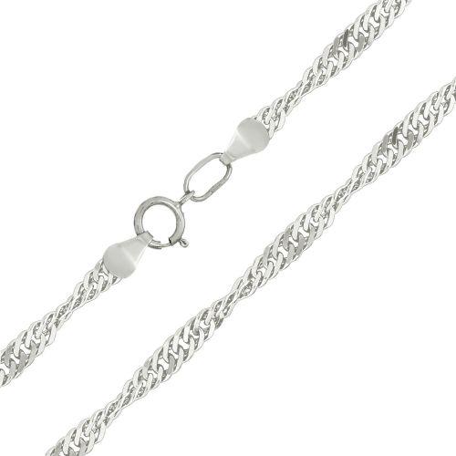 Женская серебряная цепочка плетения «Сингапур»