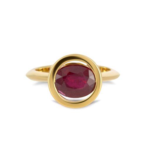 Золотое кольцо с рубином на заказ