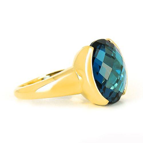 Кольцо из желтого золота с топазом