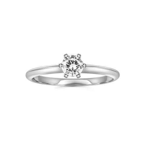 Изысканное помолвочное кольцо с бриллиантом