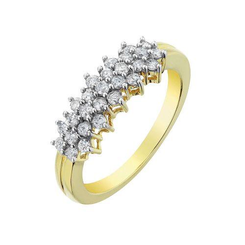 Кольцо из красного золота с бриллиантами К-11