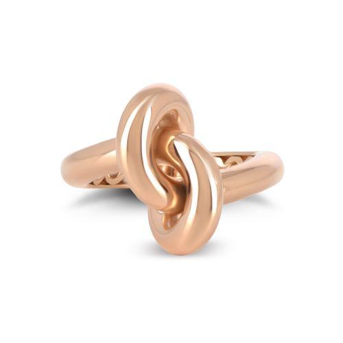 """Кольцо """"Узел"""" из розового золота 750 пробы"""