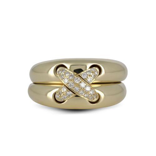 Кольцо в стиле Фаберже с бриллиантами