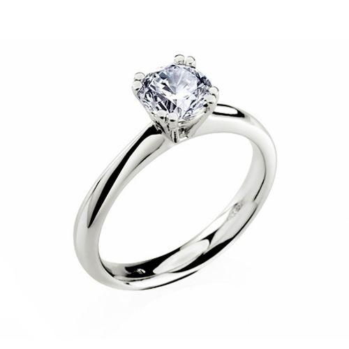 Золотое кольцо на помолвку с бриллиантом R-11