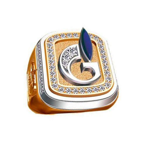 Печатка из комбинированного золота «Газпром» с бриллиантами