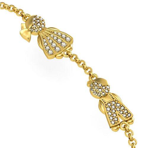 Браслет из белого золота с бриллиантами «Дети»