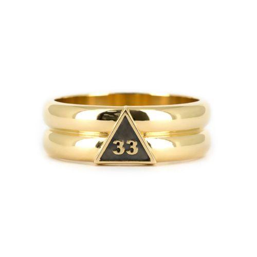 Мужское кольцо с надписью 33 в треугольнике с чернением на заказ