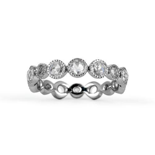 Женское золотое обручальное кольцо с бриллиантами