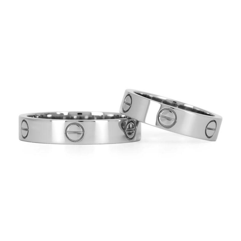 Платиновые обручальные кольца в стиле «Cartier»