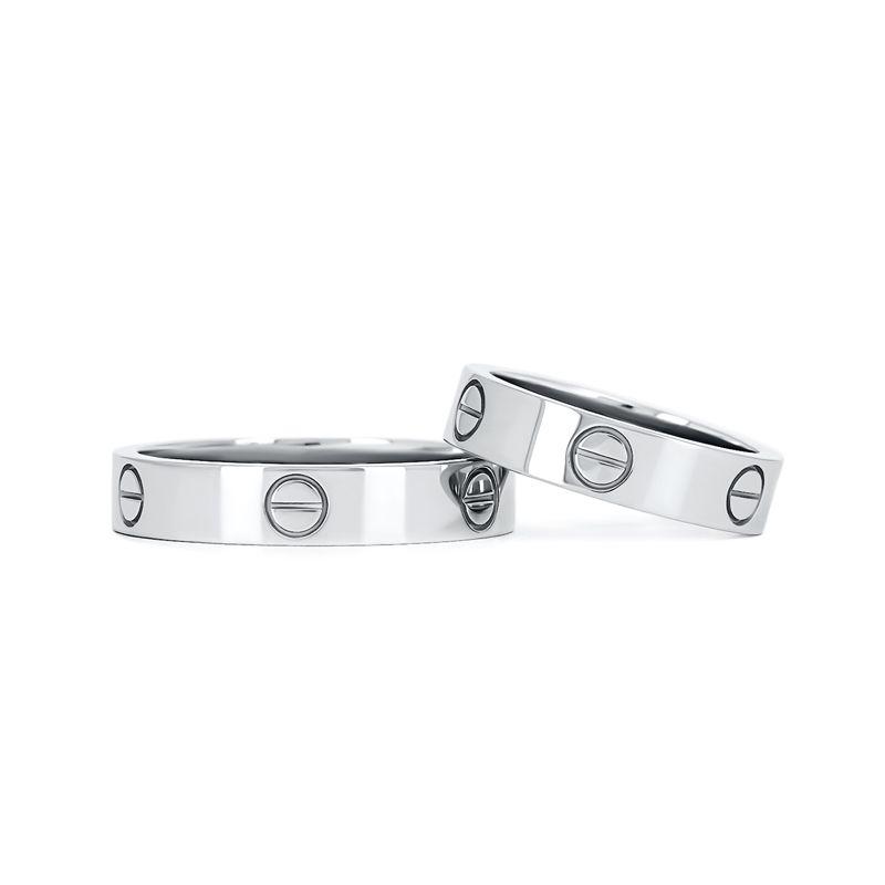 Обручальные кольца в стиле «CARTIER» из белого золота