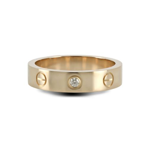 Обручальное кольца в стиле «CARTIER» из красного золота