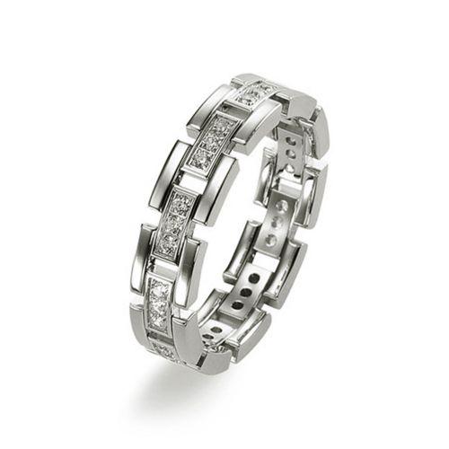 Мужское обручальное кольцо оригинальной формы