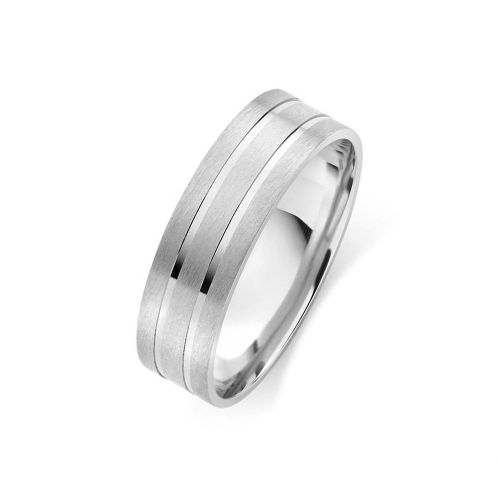 Мужское серебряное обручальное кольцо
