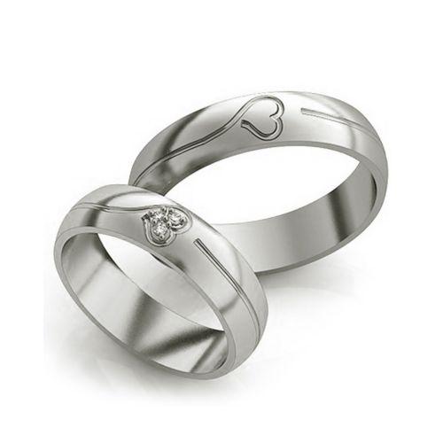 Обручальные эксклюзивные кольца - два сердца