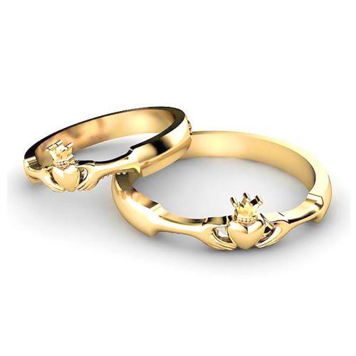 Классические обручальные кольца «Кладдах» из серебра
