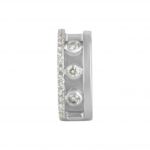 Серьга-каффа из белого золота с бриллиантами