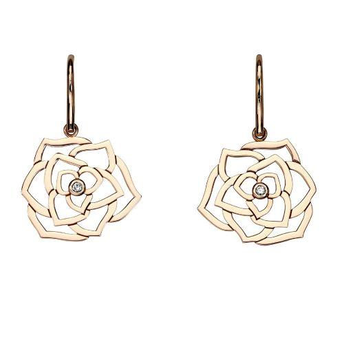 Золотые серьги в виде роз UvelirMoscow Rose