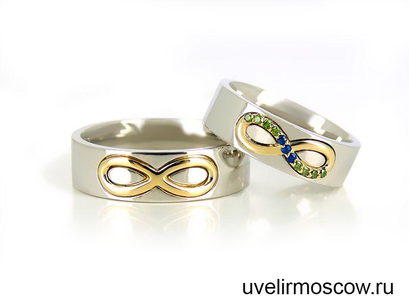 Мужское Кольцо Со Знаком Бесконечности
